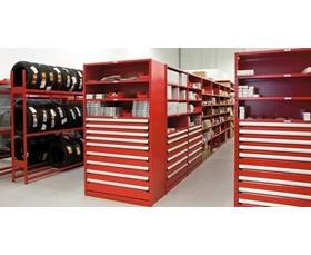 """Shelving with Modular Drawers, 4 drawers (36""""W X 18""""D X 75""""H)"""