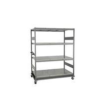 "Mobile Mini-Racking, steel shelves (66""W X 36""D X 63""H)"
